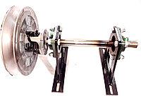 Шкив ведомый 2-х опорный в сборе на корпусных подшипниках (шкив за опорами)