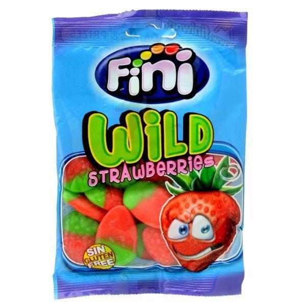 "Жевательный мармелад ""Wild Strawberries - Клубника"" FINI Испания 100гр"