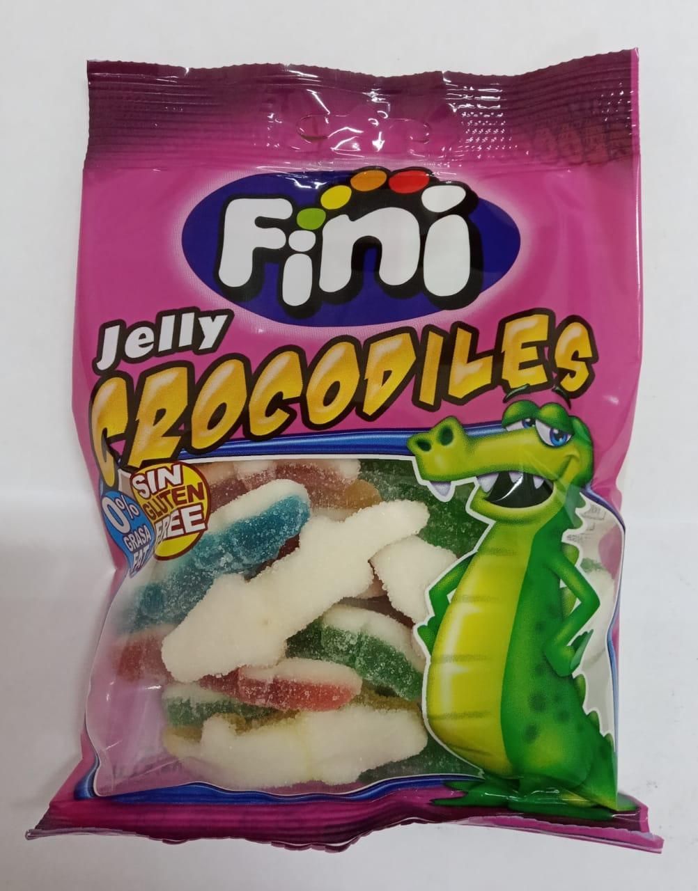 "Жевательный мармелад ""Jelly Crocodiles - Крокодильчики в сахаре"" FINI Испания 100гр"