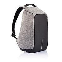 Рюкзак Антивор с защитой от карманников, цвет серый/черный
