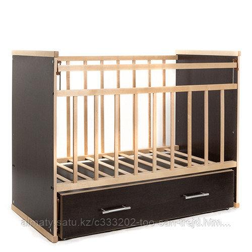 Детская кроватка ВДК Садко (с маятником, с ящиком),венге-береза
