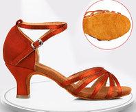 Туфли для бальных танцев (взрослые). Цвет: Бронза. Размеры: 35-41