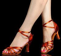 Туфли для бальных танцев (взрослые). Цвет: Бронза. Размеры: 35-41 36