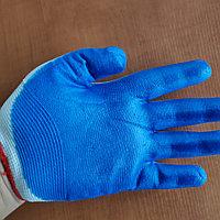 Перчатки хозяйственные (х/б) высокой плотности с резиновой пропиткой, фото 1