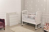 Кровать детская Incanto Civetta колесо-качалка белый
