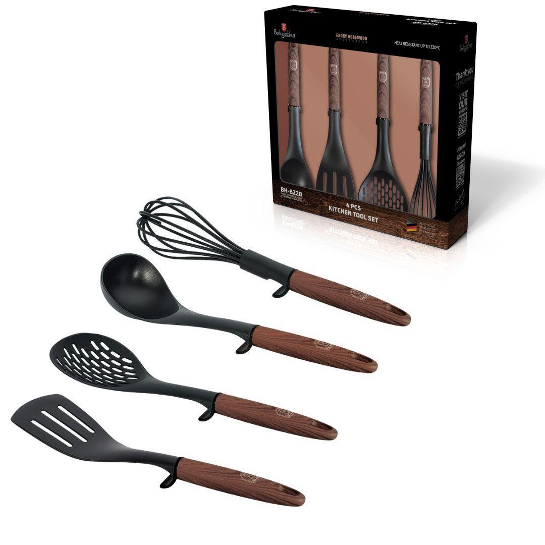 Набор кухонных принадлежностей Berlinger Haus Ebony Rosewood Collection 4 пр.