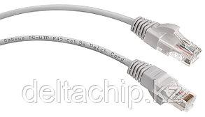 Патч-корд UTP категория 5е, длина 0.5 метров, неэкранированный, серый REXANT 18-