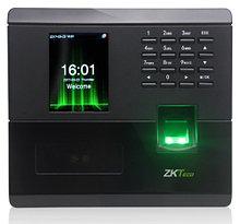 MB10 - Мультибиометрический (с распознавание лица и отпечатков пальцев) терминал контроля доступа с функциями учёта времени, посещаемости и управления