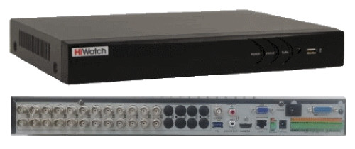 DS-H324/2Q - 24-х канальный Turbo HD5.0 TVI/AHD/CVI гибридный видеорегистратор с разрешением до 4MP на канал + 2 IP-канала с разрешением 6.0MP и 2-мя