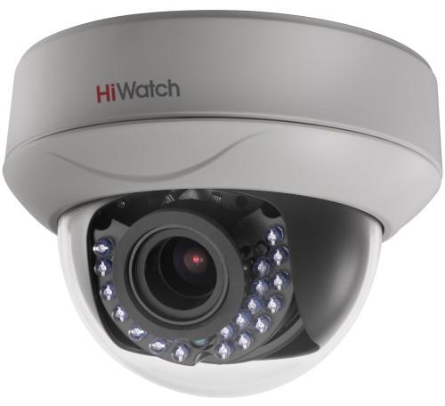 DS-T207 - 2MP HD-TVI мультиформатная (HD-TVI AHD CVI CVBS) уличная купольная варифокальная камера с ИК-подсветкой.
