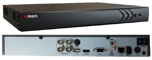 DS-H204QA - 4-х канальный Turbo HD4.0 TVI/AHD/CVI/CVBS гибридный видеорегистратор с разрешением 4MP на канал +