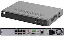 DS-N608P - 8-ми канальный сетевой видеорегистратор с разрешением записи до 6MP на канал, с 8 независимых PoE-интерфейсами.