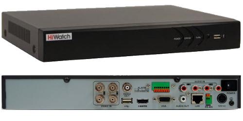 DS-H204TA - 4-х канальный Turbo HD5.0 гибридный видеорегистратор с поддержкой 4-х камер TVI/AHD/CVI/CVBS с
