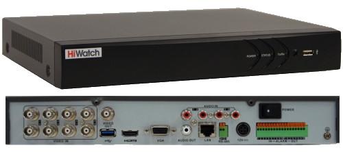 DS-H208U - 8-ми канальный Turbo HD5.0-TVI/AHD/CVI/CVBS гибридный видеорегистратор  с разрешением записи до 5MP