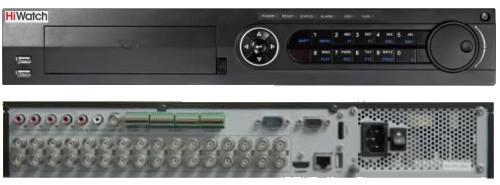 DS-H232Q - 32-х канальный Turbo HD4.0 гибридный видеорегистратор с поддержкой 32-х камер TVI/AHD/CVI/CVBS с разрешением записи до 2MP на канал + 8 IP-