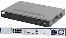 DS-N308/2P - 8-ми канальный сетевой видеорегистратор с разрешением записи до 6MP на канал, с 2-мя