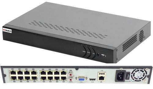 DS-N316/2P - 16-ти канальный сетевой видеорегистратор с разрешением записи до 6MP на канал, с 2-мя SATA-интерфейсами и с 8 независимыми PoE-интерфейса