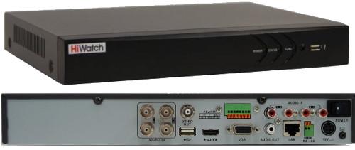 DS-H204UA - 4-х канальный Turbo HD5.0-TVI/CVI/AHD/CVBS гибридный видеорегистратор с разрешением записи до 5MP