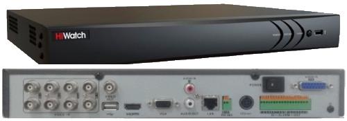 DS-H208UP - 8-ми канальный Turbo HD5.0-TVI/AHD/CVI/CVBS* гибридный видеорегистратор  с разрешением записи до