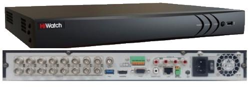 DS-H216QP - 16-ти канальный Turbo HD4.0 гибридный TVI/AHD/CVI/CVBS* видеорегистратор с разрешением до 4MP на канал + 2 IP-канала с разрешением до 4MP,