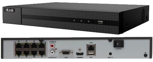 NVR-108MH-C/8P(B) - 8-ми канальный сетевой видеорегистратор с разрешением записи до 4К на канал, с 8-ю PoE-портами.