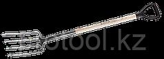 """Вилы """"ФАВОРИТ"""" садовые, деревянный черенок из ясеня, пластиковая рукоятка, 280x180x1200мм, ЗУБР"""