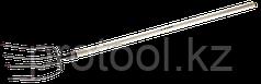 """Вилы """"ФАВОРИТ"""" для компоста, деревянный черенок из ясеня, 315x220x1500мм, ЗУБР"""