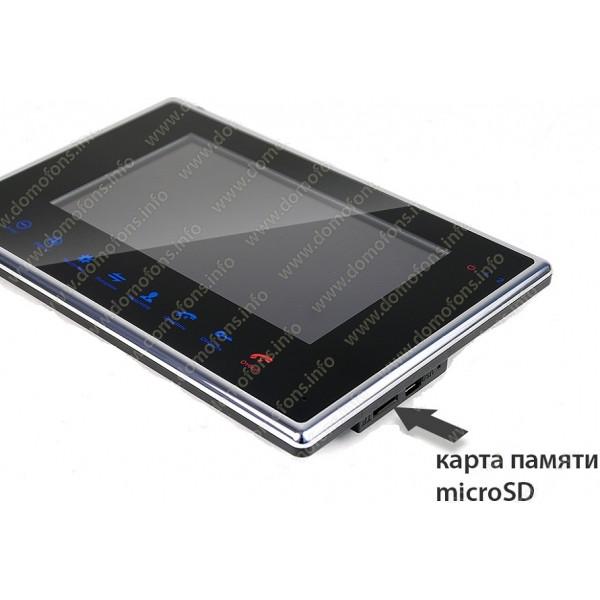 Цветной AHD видеодомофон с записью по движению HDcom B-714AHD