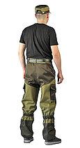Костюм мужской летний цвета хаки 100% хлопок, фото 2