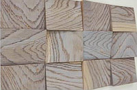 Деревянная мозаика 3D Сакура, Дуб Брашированный, цвет Беленый дуб, Казахстан