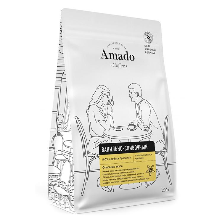 Ванильно-сливочный Кофе в зернах 200г