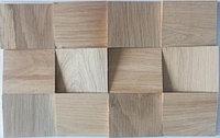Деревянная мозаика 3D Сакура, Дуб Брашированный, Без покрытия, Казахстан