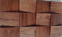 Деревянная мозаика 3D Сакура, Дуб Брашированный, цвет Табако, Казахстан