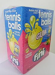 "Жвачка с начинкой ""Теннисные мячи (лимон/лайм)"" FINI Испания в блоке -200шт"