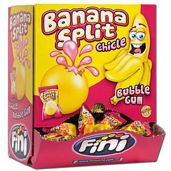 """Жвачка с начинкой """"Банановый Сплит (бабл гам)"""" FINI Испания в блоке -200шт"""