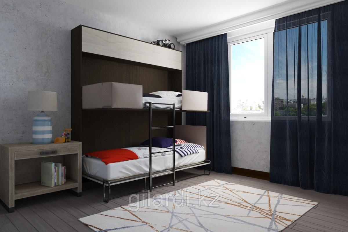 Шкаф-двухъярусная кровать трансформер «Twin Flip» (ШК2А) - фото 1