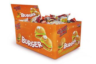 "Жевательный мармелад ""Burger Mini - Мини Бургер"" Gummi Zone Индонезия 9гр в блоке -18шт"