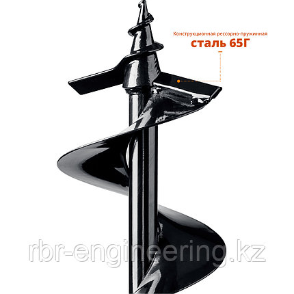 Шнек для мотобуров, грунт, d=150 мм, однозаходный, ЗУБР, фото 2