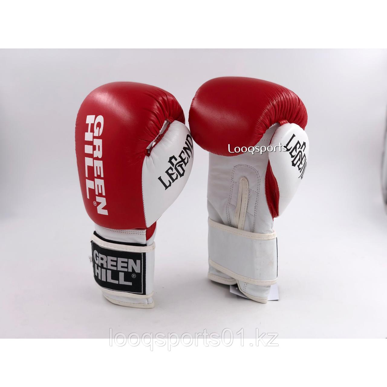 Боксерские перчатки Green Hill (кожа)