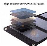 Солнечное зарядное устройство 21 Вт (влагозащищенная складная солнечная панель с двойным usb-портом), фото 4