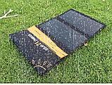 Солнечное зарядное устройство 21 Вт (влагозащищенная складная солнечная панель с двойным usb-портом), фото 6