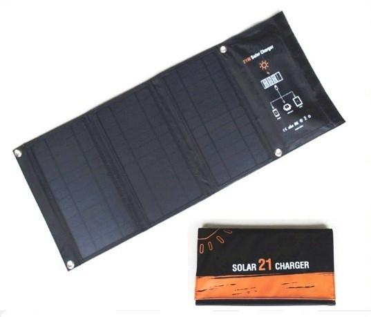 Солнечное зарядное устройство 21 Вт (влагозащищенная складная солнечная панель с двойным usb-портом)