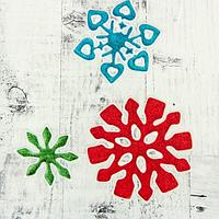 """Наклейка на стекло """"Снежинки"""" 9,5 см, 8,5 см, 5,5 см, красный, синий, зелёный, фото 1"""