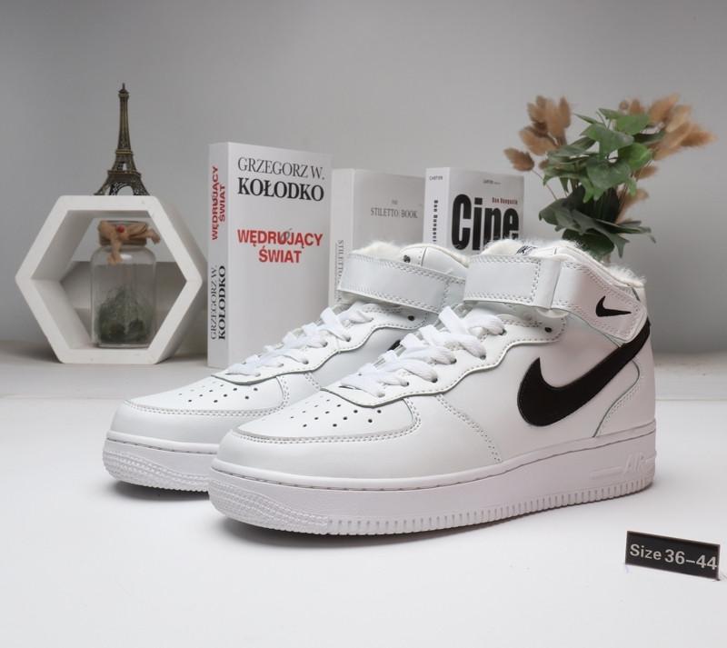 Зимние кроссовки Nike Air Force (36-45) с мехом