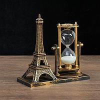 "Часы песочные ""Эйфелева башня"", 15.5х6.5.х16 см, микс"