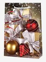 """Пакет ламин. 25х35х9см """"Подарки и новогодние украшения"""", бум., 10 шт"""