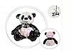 Панда с пайетками 25 см, фото 2