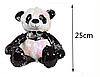 Панда с пайетками 25 см, фото 3