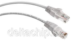 Патч-корд UTP категория 5е, длина 2 метров, неэкранированный, серый REXANT