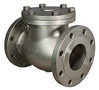 Фланцевый дисковый обратный клапан из нержавеющей стали Марка 08Х18Н9